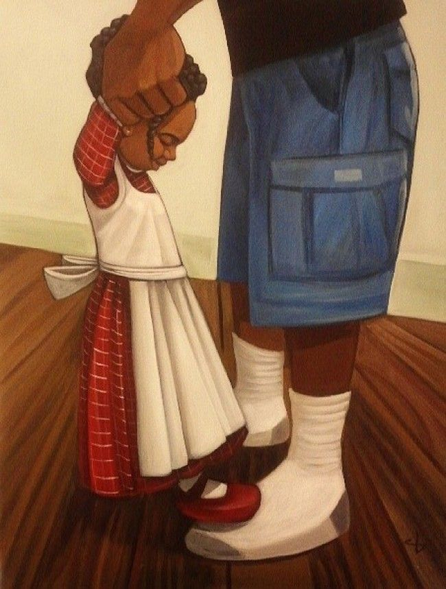 Dance Partners by Cbabi Bayoc - 365 Days with Dad #CbabiBayoc #365DayswithDad #BlackArt
