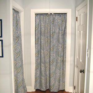 Bedroom Closet Door Curtains