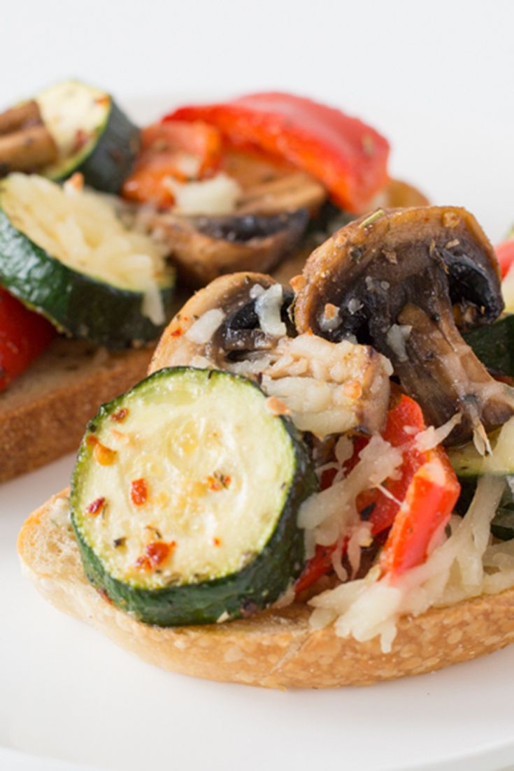 Roasted Vegetable Tartine: So good, even the family meat-lover will come back for more!