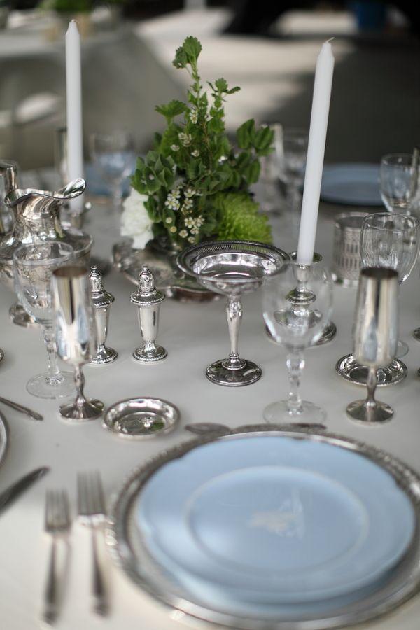 mixed stemware silver ch&agne flute salt and pepper shakers & 19 best Light Blue u0026 Silver Wedding images on Pinterest | Blue ...