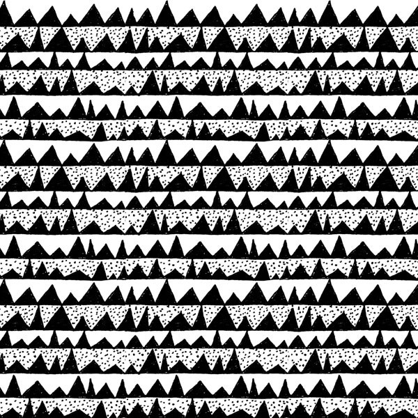 Daily Pattern No. 7 - Mountains  by Emma Henderson