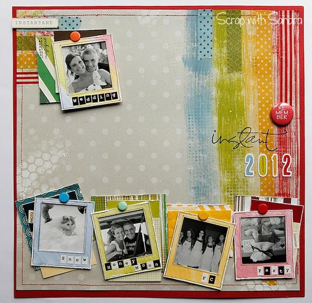 Scrap with Sandra: Remember-Instant 2012- Sfida Gennaio Scrappando