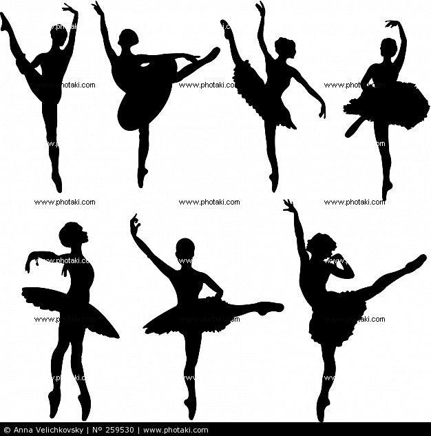 Bailarines de ballet, siluetas