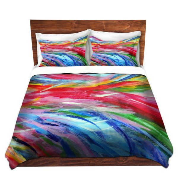 Decroative Duvet Covers and Shams Bedding | Jackie Phillips - Rainbow Cyclone