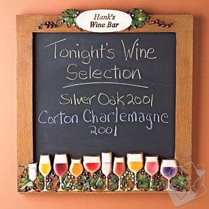 Personalized chalkboard for the wine enthusiast: $69.95