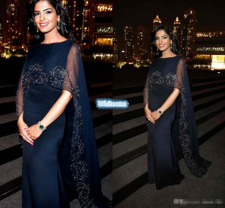 Navy Blue Women Formal Evening Dresses With Cloak Embroidery Beads Jewel Mermaid Satin 2016 Princess Ameerah Of Saudi Arabia Celebrity Gowns Long Black Evening Dresses Uk Long Evening Dress Uk From Whiteone, $137.17| Dhgate.Com