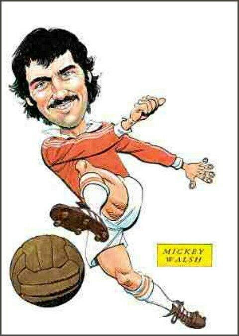 Mickey Walsh of Blackpool in cartoon mode.