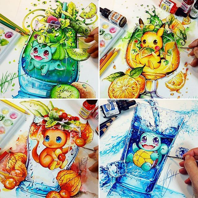 Which one is your favorite!?? Follow us @dailyar for more! Amazing artworks by @nashimanga Tag your friends!#Dailyart