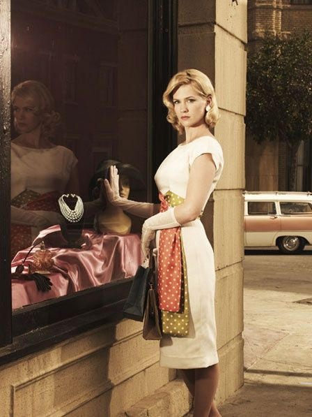mad men. mad style.: Polka Dots, January Jones, Madmen, Dresses, Style Icons, Betty Draper, Men'S Style, Mad Men Fashion, Mad Men Styles
