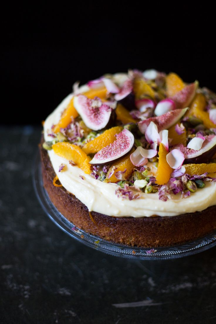 Persian Orange Cake. Gluten and dairy free if you dont count the icing...