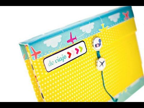 Video: Mini Álbum scrapbook de viaje desplegable | Scrapbooking paso a paso