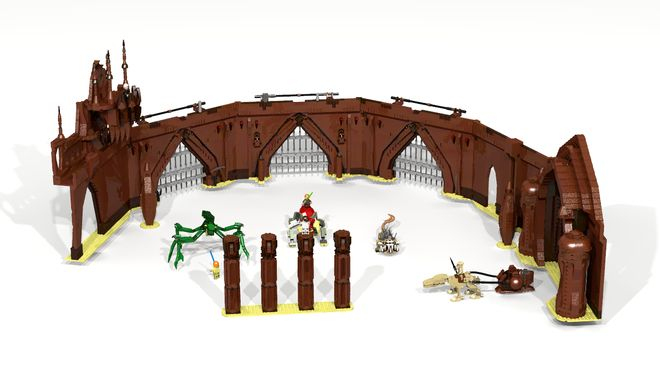 Build the Arena of Star Wars which comes with all three creatures (Acklay, Reek, Nexu) and also a Geonosian riding a Orray, Dooku and finally the three main heroes Obi-Wan, An...