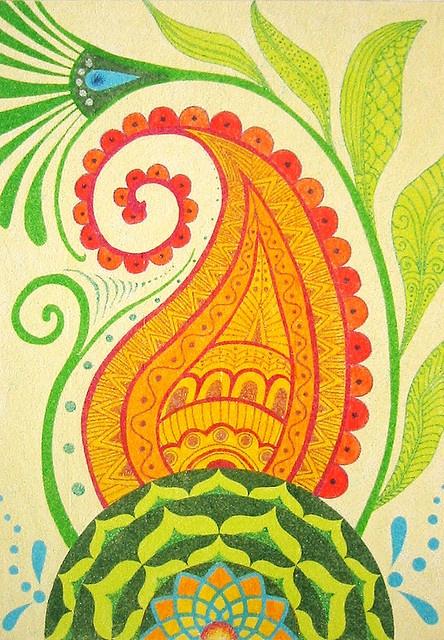 115 Best Paisley Images On Pinterest Mandalas Paisley