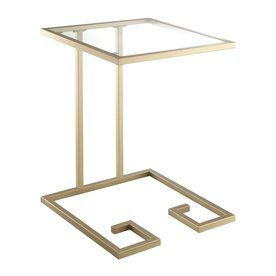 Carolina Cottage Royce Gold End Table Cf1818g Gld
