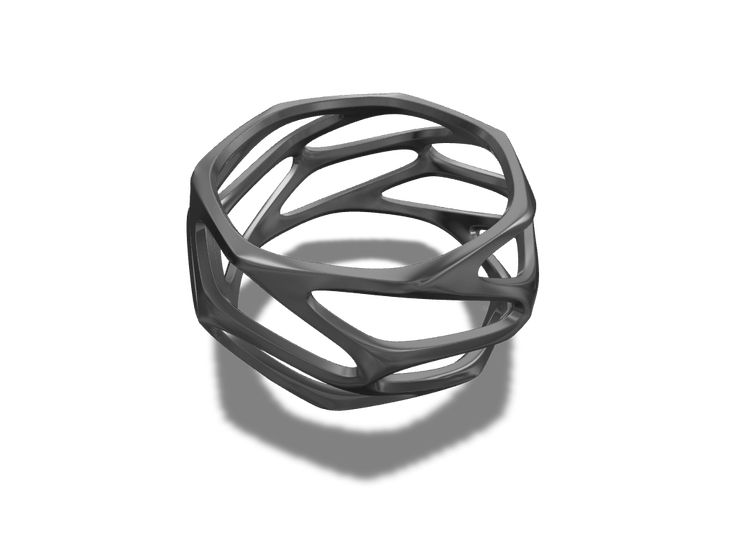 Parametric ring - a 3D model created with VECTARY - the free online 3D modeling tool #3Dprinting