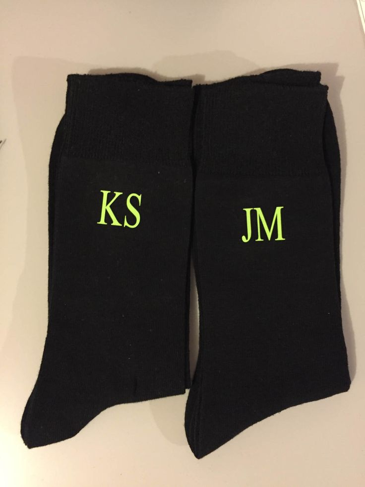 monorgrammed socks,neon monogram gift , personalised socks , groom socks, usher, groomsmen socks, groom socks, neon socks, monogrammed socks by personaliseddiamante on Etsy