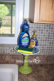 DIY soap dish stand using Pier 1 Atlas Salad Plate and candlestick holder
