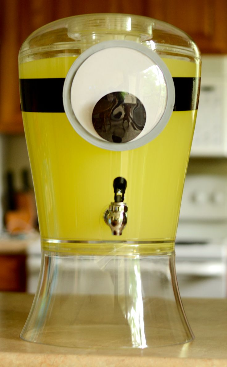 Minion Party Ideas-Perfect drinks dispenser for the tearoom