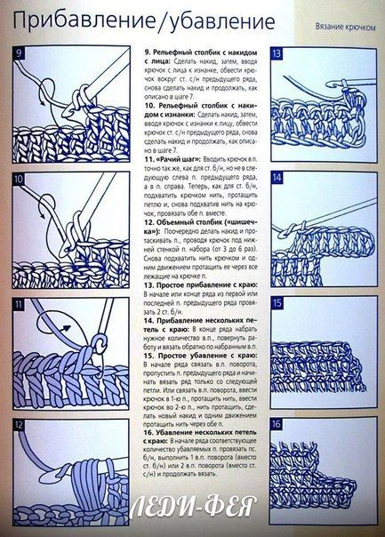 Шпаргалка по вязанию крючком и спицами. Обсуждение на LiveInternet - Российский Сервис Онлайн-Дневников
