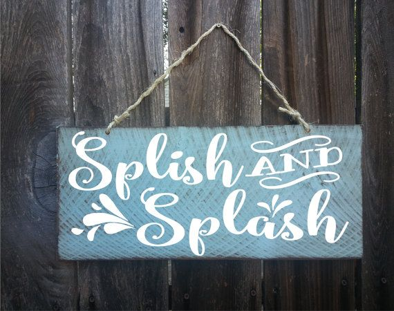 bathroom decor bathroom wall decor bathroom art by SurfShackSigns