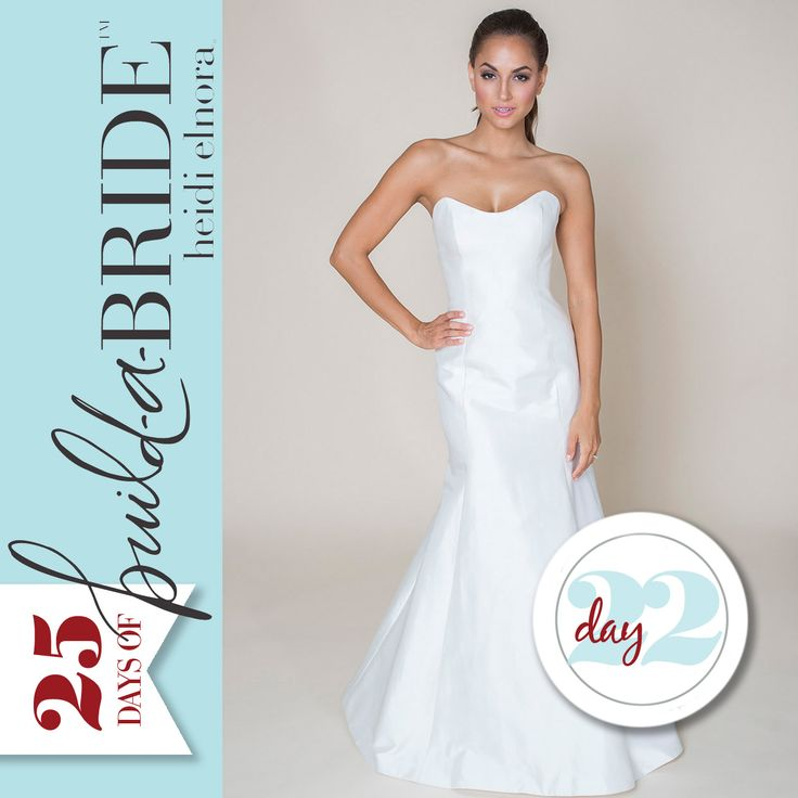 The Sophie Paulette perfectly combines classic vibes with modern trends! This fit-to-flare gown adds a twist with a deep scoop neck. It's almost Christmas, but there is still time to nominate yourself or a friend for the 25 Days of build-a-bride Giveaway. Email info@heidielnora.com for an application.
