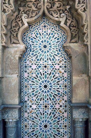 Detail at a Rabat Mosque, Morocco.