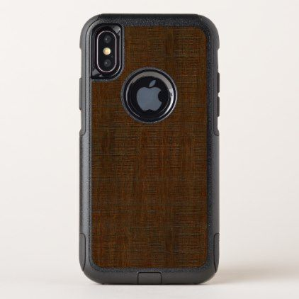 Rustic Bamboo Wood Grain Texture Look OtterBox Commuter iPhone X Case - barn wood gifts idea customize nature