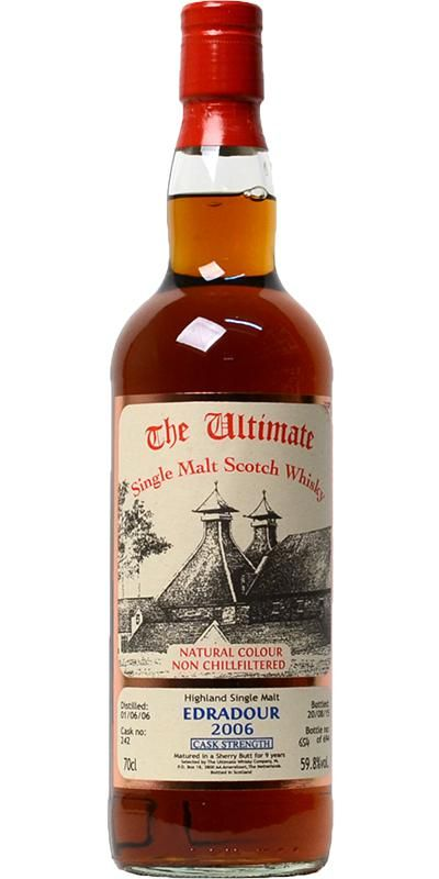Review #282: Edradour 9 (2006 The Ultimate) #scotch #whisky #whiskey #malt #singlemalt #Scotland #cigars