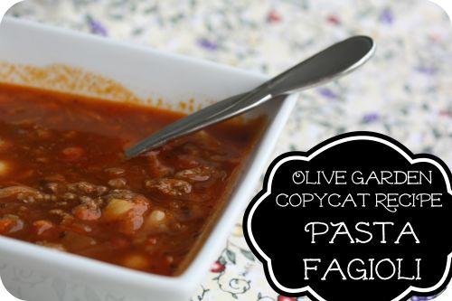 Copy Cat Recipe For Olive Garden 39 S Pasta Fagioli Soup Soo Good And Really Easy Too Soup 39 S