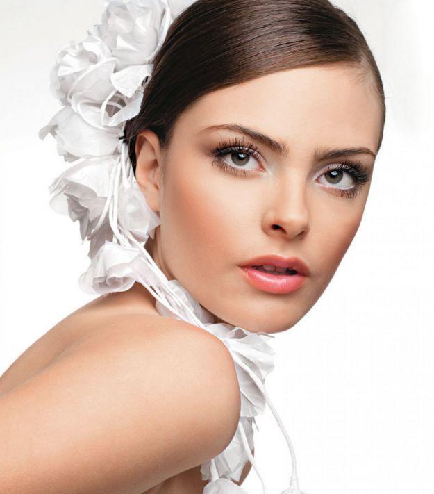 Естественный свадебный макияж для карих глаз ::: onelady.ru ::: #makeup #eyes #eyemakeup
