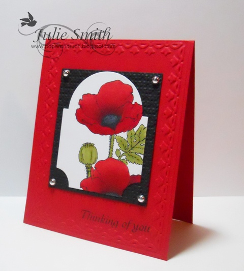 Poppies from Paper and Such: Crafts Paper, Beautiful Cards, Scrap Stamp Cards Wrap, Cards Paper Ideas, Handmade Cards, Birthday Cards, Greeting Cards, Favorite Cards, Stamping Cards