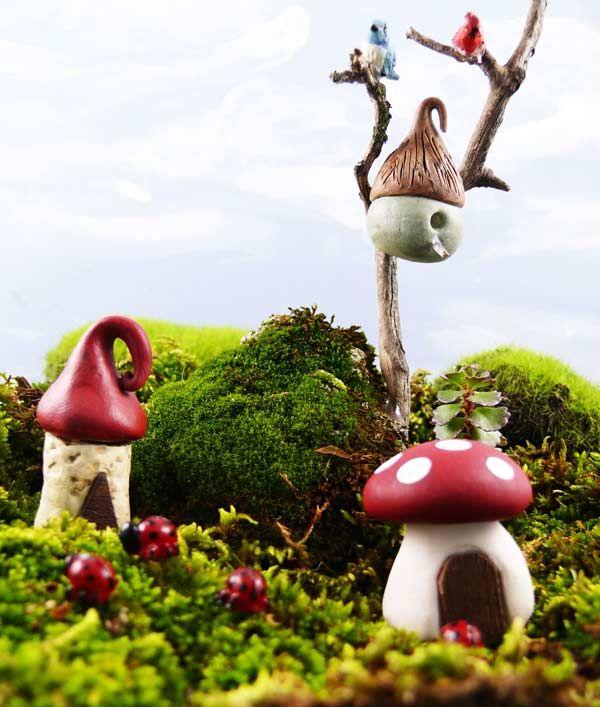 Miniature Red Terrarium Fairy garden