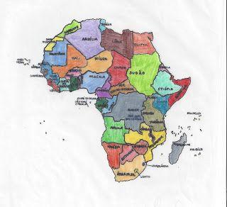 a nossa Geografia: 7º ano - Mapa de África