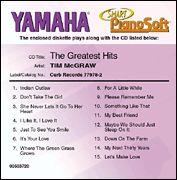 Tim McGraw - The Greatest Hits - Smart PianoSoft