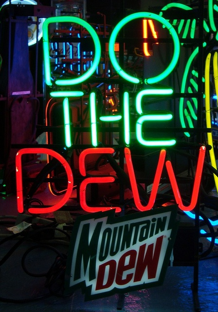 do the dew neon sign