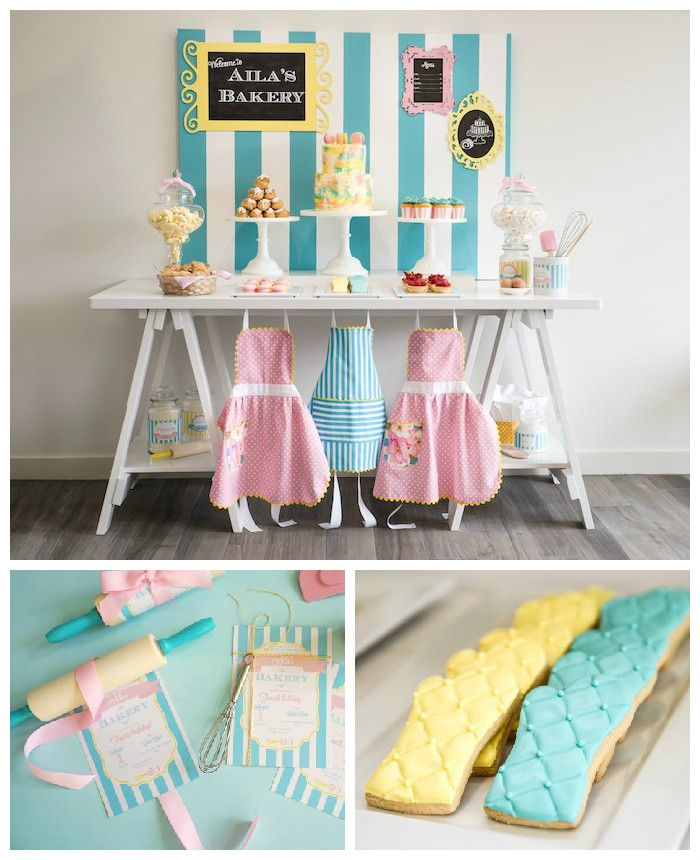 Bakery Birthday Party via Kara's Party Ideas | Party ideas, supplies, printables, desserts, invitations, activities and more! KarasPartyIdeas.com (2)