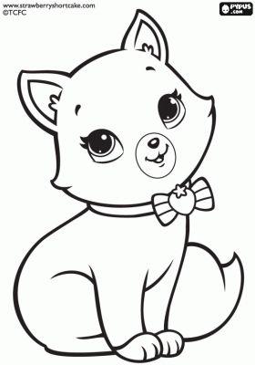 desenho do gato da moranguinho para pintar
