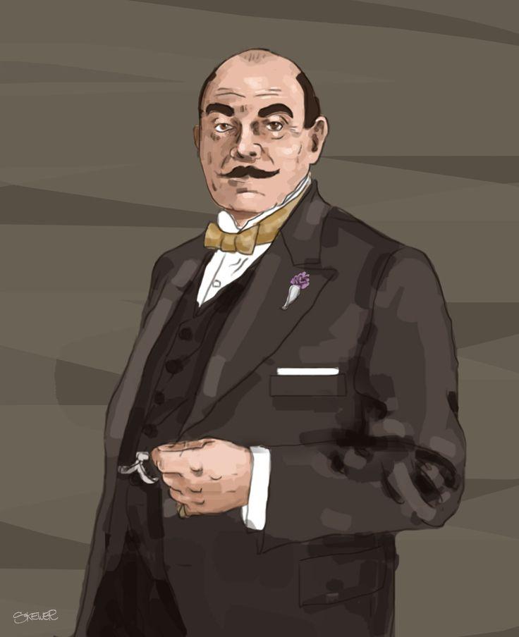Hercule Poirot illustration by Nada Rysankova art