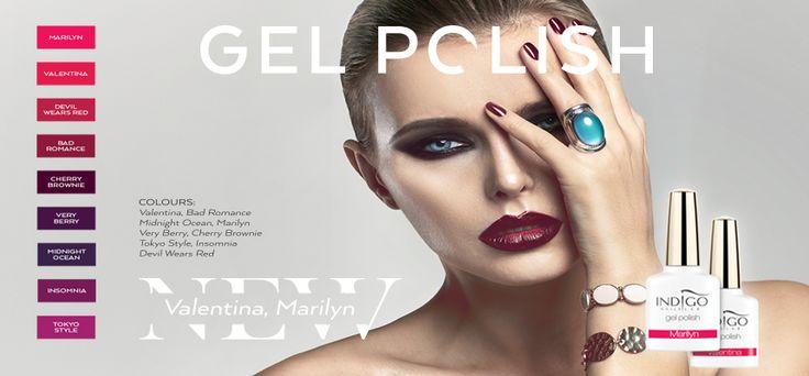 Indigo Nails Lab Ireland New Valentina, Marilyn Gel Polish