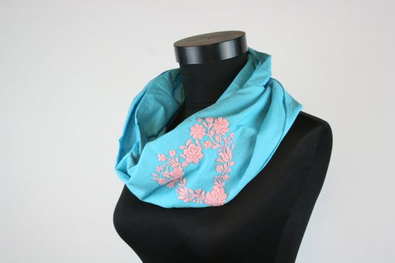 Woman infinity scarf  circle scarf  loop scarf   hand by MatyoKid