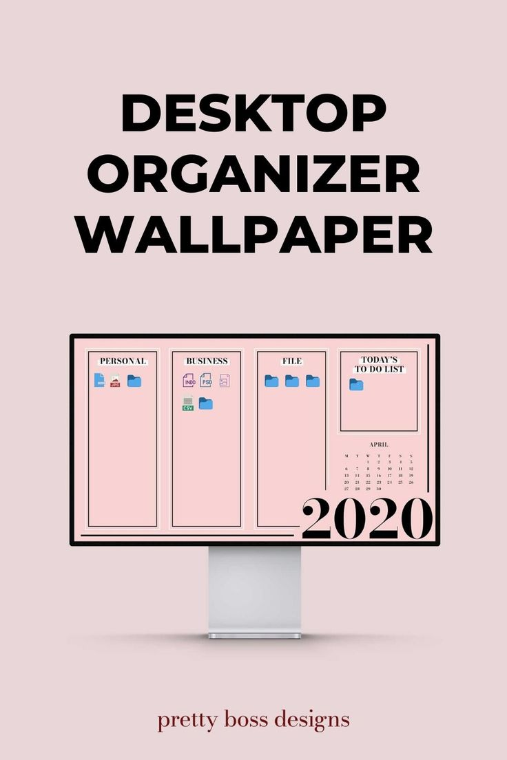 Desktop Organizer Wallpaper 2020 2021 Monthly Calendar Desktop Wallpaper Organizer Desktop Organization Organization