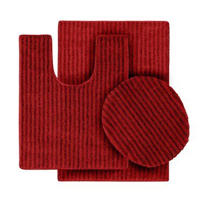 Garland Rug SHE-3PC-04 Sheridan Plush Washable Nylon Bath Rugs #home #decor sale & deals Color:Chili Pepper Red Sheridan Collection Bath Rug 3 piece set Revamp your bathroom with this Sheridan bath rug by Garland Rug.Its striped pattern an...