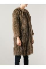 Фасон ****  Meteo By Yves Salomon Fur Coat in Brown - Lyst