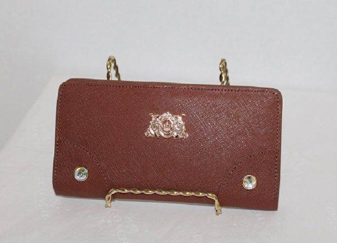 Juicy Couture Saffiano Sophia Cashmere Continental Wallet up for auction on Tophatter.com Sunday 6/29/14 at 6 PM Eastern in the Juicy Couture/Betsey Johnson Auction.  Starting bid is $1!