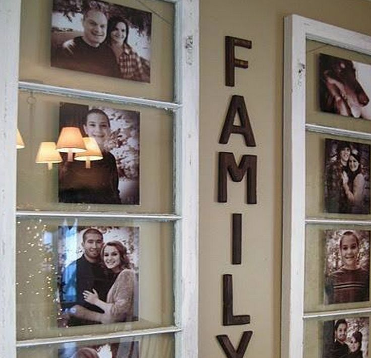 We love these gorgeous upcycled window frames and you will too!  Liven up a wall in your home and feature all your loved family members.