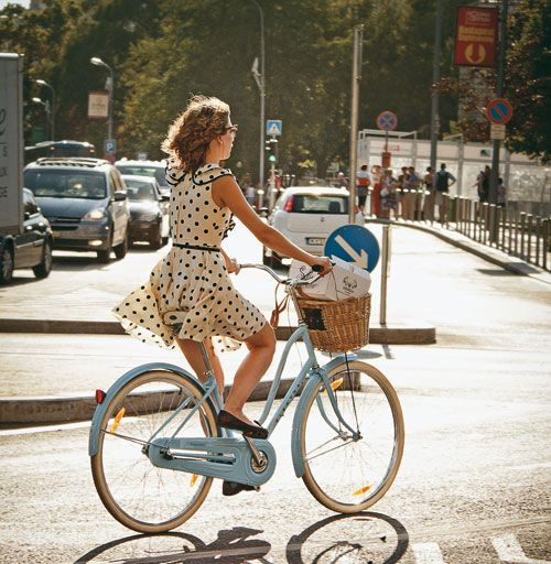 Polka Dot Dress Perfect for Biking