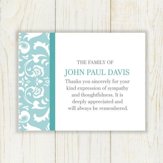 Best 25+ Funeral thank you notes ideas on Pinterest Sympathy - funeral thank you note