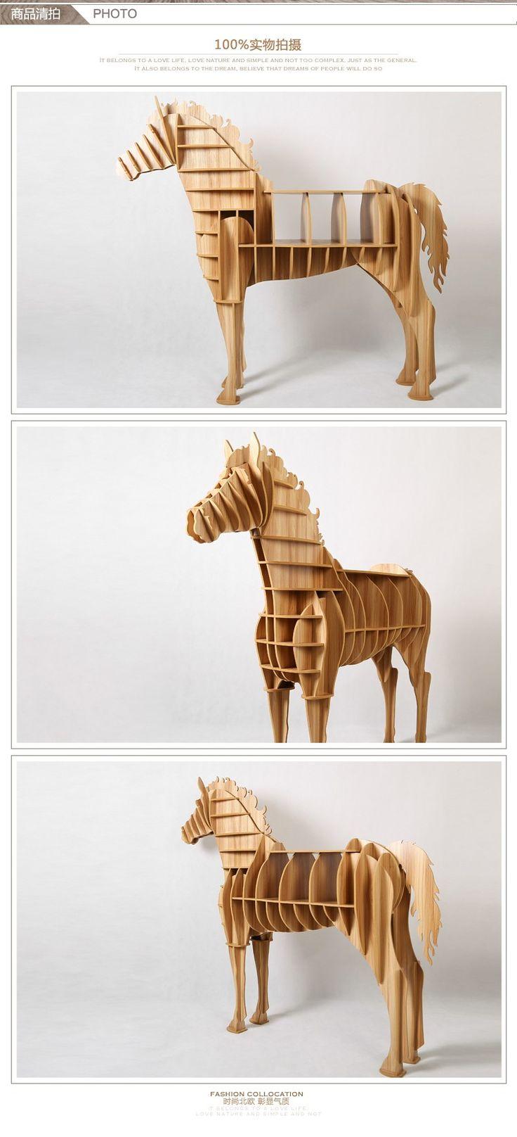 De gama alta de 9 mm de escritorio del caballo caballo de café de madera caballo estanterías muebles a estrenar TM013M en Wood Crafts de Casa y Jardín en AliExpress.com | Alibaba Group