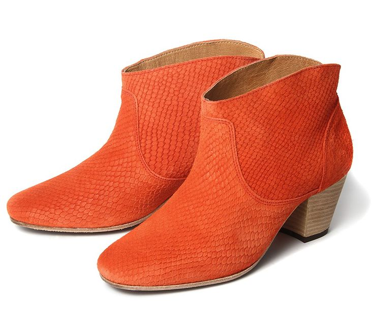 gorgeous coral boots from hudson