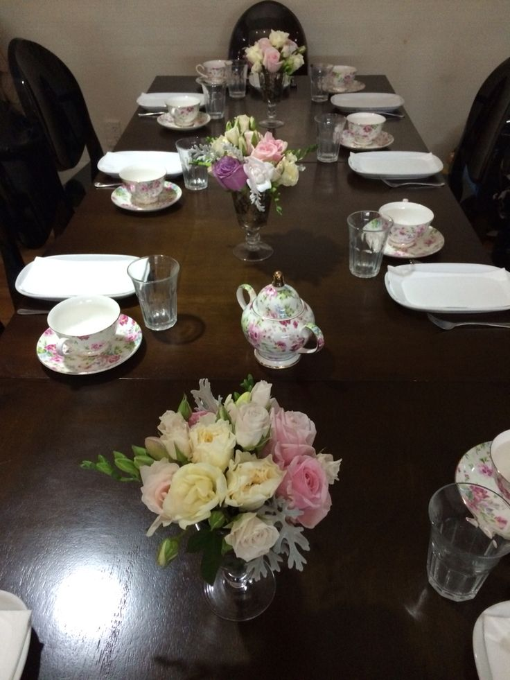 Hens party table. Booked for high tea!